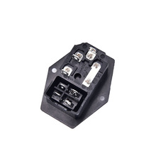 ON/OFF switch Socket with female plug for power supply cord arcade machine IO switch with Fuse