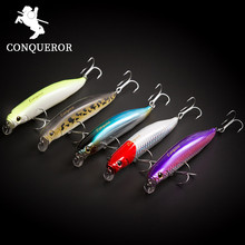 Conquero 2017 good fishing lure minnow quality professional bait 105mm 15g swim bait equipped VMC hook(China)
