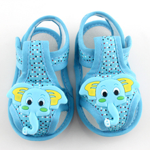 Two Color Style Baby First Walker Newborn Shoes Fashion New Style Boys and Girls Sneakers Little Elephant Shoes#E
