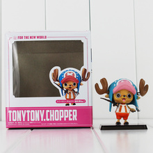 Anime One Piece Tony Tony Chopper Two Years Later Action Figure PVC Toys Model Doll 6cm With Box