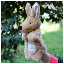 Story game toy 1pc 26cm cartoon funny warm kangaroo hand puppets plush pacify educational stuffed baby infant gift(China)