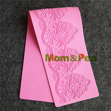Mom&Pea GX175 Free Shipping Flower Lace Mold Cake Decoration Fondant Cake 3D Mold Food Grade Silicone Mould