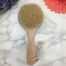 Natural Bristle wooden bath brush skin massage exfoliating Spa Scrubber body brush shower Bathroom products(China)