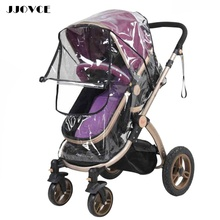 JJOVCE Stroller Rain Cover Accessories Universal Buggy Pushchair Stroller Carrycot Bassinet Transparent Rain Cover Baby