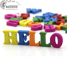 WEEDDIE 100pcs Home Decoration Wood Wooden Letter Alphabet Word Free Standing Scrapbooking Carft for decoration Diy(China)