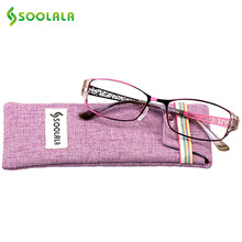 SOOLALA Reading Glasses Women Men Hollow Arm Full Rimmed Reading Glasses Diopter Presbyopic Glasses +0.5 1.5 1.75 2.25 to 5.0(China)