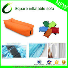 European outdoor inflatable portable folding air sofa chair bed factory low price air bag sofa hangout