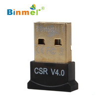 Binmer Hot selling Binmer New! Mini USB Bluetooth V4.0 Dongle Dual Mode Wireless Adapter For Laptop PC High Quality