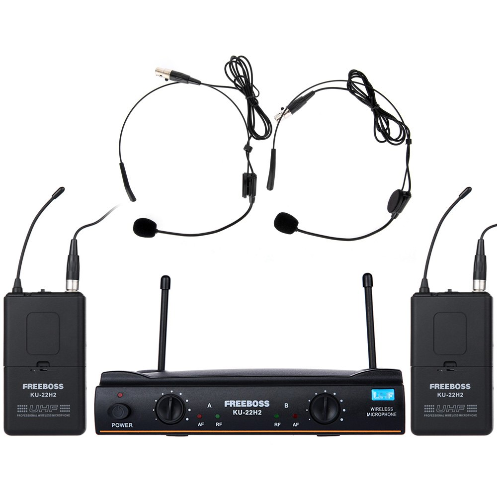 KU-22H2 Dual Channel UHF Wireless Karaoke DJ Speec...