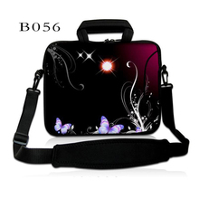 Flower Top quality neoprene Computer Bag Notebook PC Cover tablet Sleeve Case 10 12 13 14 15 17 inch Laptop Shoulder Bag Pouch