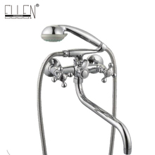 Wall Mounted Bath Faucet with Hand shower Bathtub Faucets Bath Shower Mixer Crane(China)