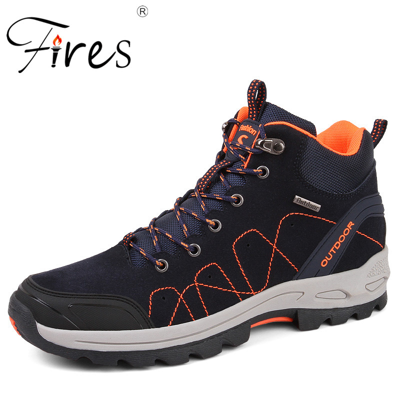 Fires Mens Climbing Shoes Waterproof Hiking Shoes Couple High Quality Sport Shoes Comfortable Unisex Outdoor Walking Shoes<br>