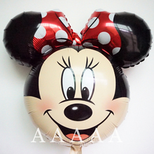 5pcs/lot Minnie Mickey balloon mickey mouse birthday balloons minnie mouse head foil helium party balloons(China)