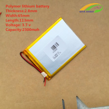 3.7V 2300mAh 2865113 Polymer Lithium Li-Po Rechargeable Battery For DIY Mp3 MP4 MP5 GPS PSP ipad 2