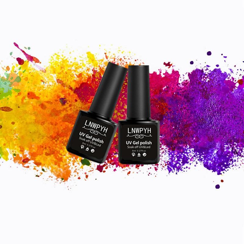 18 Bottle/LOT Nail Polish Nail Varnish Gel polish uv Color Vernis Semi Permanent Gel Manicure Primer Top Coat Glitter Nail Art