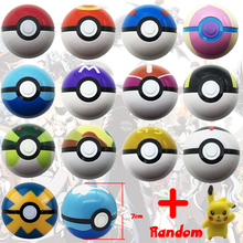 1-13pcs 7cm Pok Go Pokeball ABS Figures Japanese Hot Anime Pok Ball Kids Toys Cosplay Collections Gifts Super Master