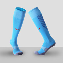 Men Soccer Socks New 17/18 Professional Club Football Antiskid Thick Warm Socks Knee High Training Long Stocking Socks Kid Adult(China)