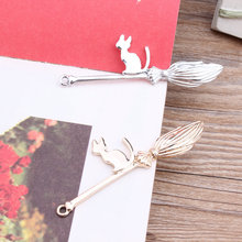 New Arrived 30pcs/lot Alloy Gold/Silver Tone Animals Cartoon Cats/Magic broom Shape metal Charms Diy Jewelry Pendants Accessory
