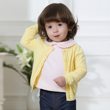 Spring Fashion Kids Cardigan Coat Girl Sweaters Candy-colored 100% Cotton Baby Girls Single-breasted Jacket Children Outer Wear