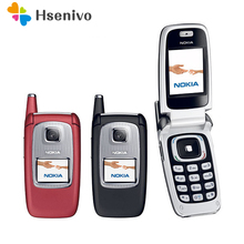 6103 100% original phone Nokia 6103 Flip refurbished cell phone with Bluetooth Freeshipping(China)