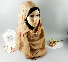 H12 white new half ace hijab,shawl ,scarf,viscose shawl ,thicker material ,180*90cm ,can choose colors(China)