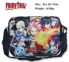 Fairy Tail Natsu Dragneel The Death Bleach Lucy Happy Gray Messenger Shoulder School Bag Textbook(China)