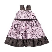 Baby girl dress flower summer 2017 kids dresses for little girls fashion girls baby Suspenders dress high quality kids clothes