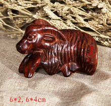 Miniature Goat wood carving figurine home decoration 6x2.6x4cm(China)