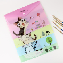 1 PC Cute Cartoon Cheese Cat PVC A4 Filing Products File Folder Storage Stationery School Office Supplies