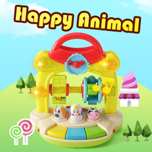 Farm Animal Learning Education Baby Musical Toys(China)
