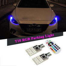 2x T10 W5W Canbus 168 194 2825 RGB LED Clearance Parking Light For BMW E60 E90 E46 E39 E30 E36 E34 F30 F10 E87 E91 E53 X5 X3 X1