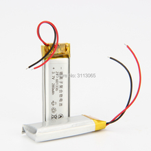 3.7V 280mAH 601336 061336 lithium Polymer battery for GPS mp3 mp4 BLUETOOTH earphone shadow pen video recorder transcript(China)
