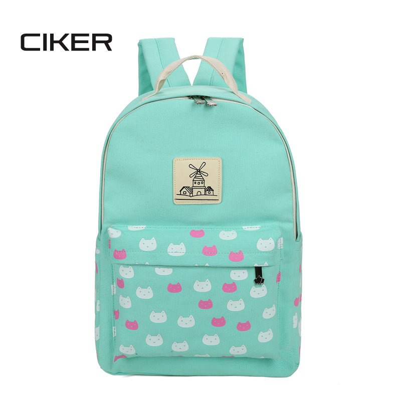 CIKER New 2017 fashion cute cat printing backpack women laptop backpacks for teenage girls mochilas rucksack school bags daypack<br><br>Aliexpress