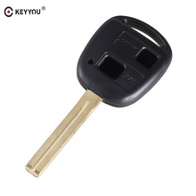 KEYYOU 2 Buttons Blank Key Shell For Lexus RX330 ES300 46mm Blade Remote Blank Key Shell Car Key Case Cover(China)