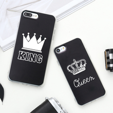 Valentine KING Queen Case for iPhone 6 Case for iPhone 5s 5 Cover Clear Silicone TPU Soft Phone Case for iPhone 8 7 6s Plus Cape(China)