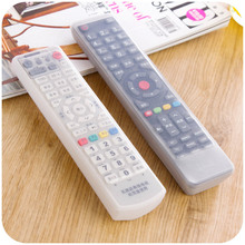 1PCS transparent silicone case for TV remote control air conditioning cover anti-dust waterproof storage bag elasticity bag
