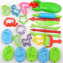 23pcs/lot Play Dough Tool Playdough Polymer Clay Plasticine Mold slime Tools Set Kit For Kids Gift(China)