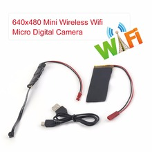 Compact Size 640x480 Mini Wireless Wifi Pinhole IP Camera Micro Digital Video Home Security Camera For Android Black