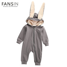 Buy Autumn Winter Rabbit Ear Baby Clothes Rompers Cute Cartoon Infant Girls Boys Long Sleeve Jumpsuit Baby Outfits Costume Clothing for $9.29 in AliExpress store