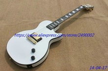 Best Electric guitar LP custom.bridge pickup,wrapround tail,snow white,ebony fingerboard,can be customised, Real photo shows