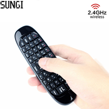 2.4G Mini Wireless Keyboard with Rechargeable C120 Air Fly Mouse GYRO Remote Control For HTPC Android TV Box Mini PC Smart TV(China)
