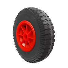 1 Pcs Durable Puncture Proof Rubber Tyres on Red Wheel Kayak Trolley/Trailer Wheel M for Kayak Canoe Fishing Boat Truck Accessor