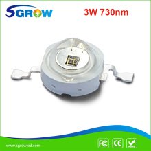 3w infar red 730nm high power led IR led grow chip for plant flower(China)