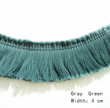 100% Cotton Trimming Green Fringe for Pillow Table flag Sofa Covers Throw 4cm Width Decorative Accesories Sell by bale