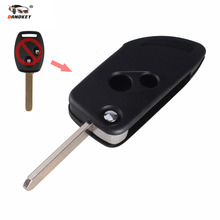 DANDKEY Modified Folding Flip Remote Key Shell Case Fob 2 Button For Honda CRV Accord Civic Fit 2B Free Shipping(China)