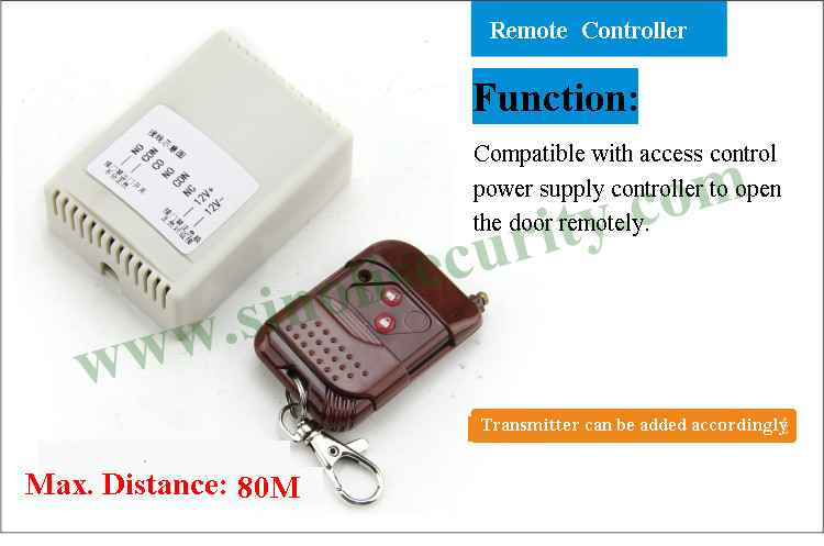 80M Long Distance Access Control Remote Control Switch, 12V Wireless Remote Door Relase Button<br>