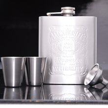 Portable Stainless Steel 7oz Hip Flask Flagon Whiskey Wine Pot Bottle Gift Free Shipping(China)
