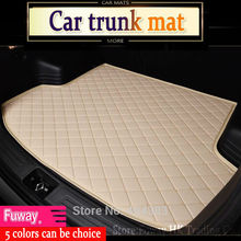 hot sales fit car trunk mat for Land Rover Discovery 3 4 freelander 2 Sport Range Rover Evoque 3D car styling carpet cargo liner(China)
