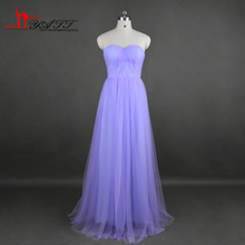 Real Photo Convertible 2017 Cheap Bridesmaid Dresses Lilac Tulle Long Discount Cheap Wedding Party Dress