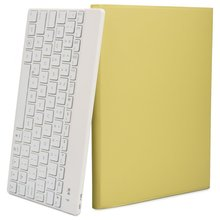 For Apple Macbook Ipad Pro 9.7 Cases Keyboard Wireless Clavier Azerty Young Yellow Bag Auto Sleep Wake 7 Color Backlight  Sleeve